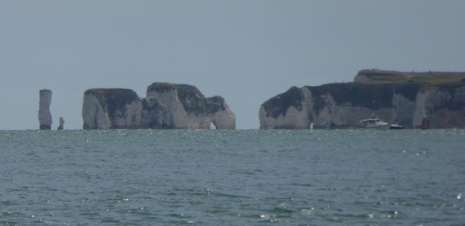 Old Harry Rocks, from Sandbanks