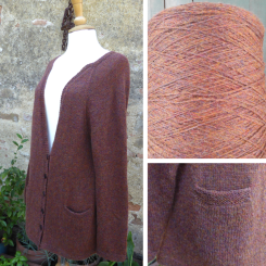 2019 - The cardigan which featured in my previous post was made from a cone of Robert Laidlaw 'Croftspun' in the 'Picasso' colurway - I have 876g left on this cone which cost £2